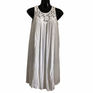 OLD NAVY white boho crochet swing dress
